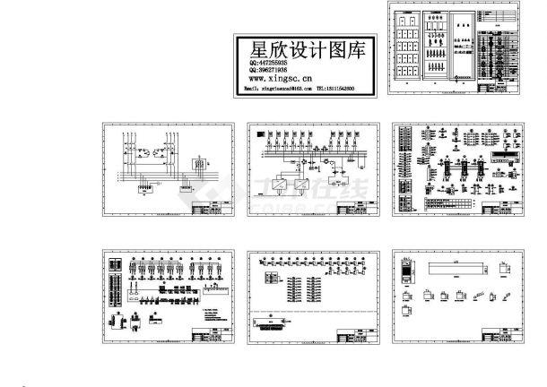 某标准型号直流屏设备电气原理设计CAD图纸-图一