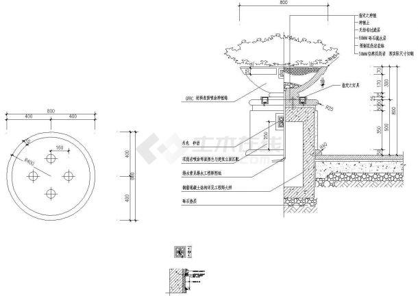 南京小区商业区园林景观工程全套施工图-图一