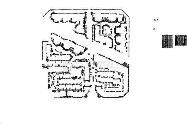 南方小区景观植物种植设计施工图,含植物配置设计说明及目录-图一