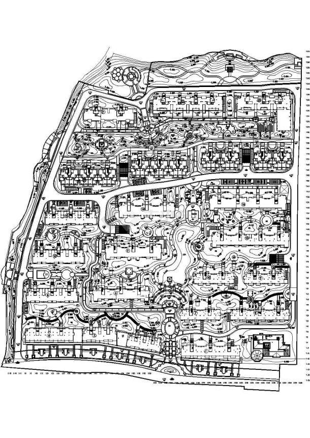 [杭州]小区园林植物配置设计施工图CAD-图二