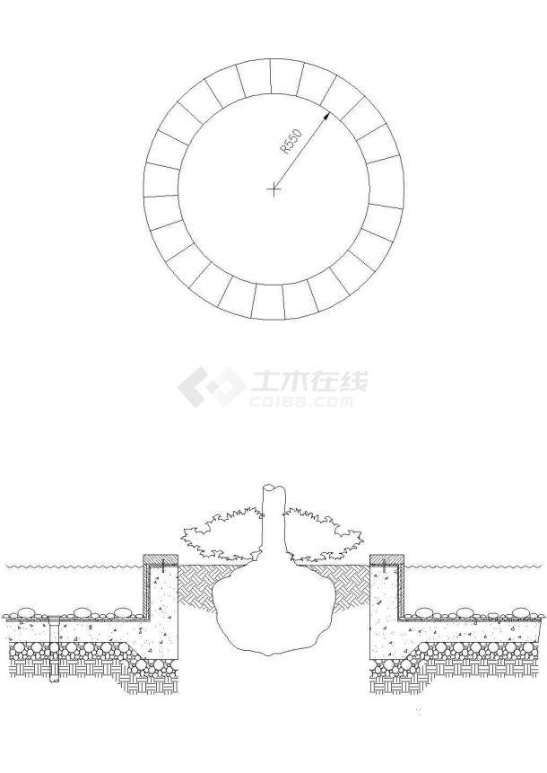 深圳居住区园林景观工程施工图-图一