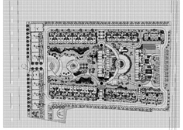 [都江堰]高档住宅小区中庭庭院植物配置施工图CAD-图一
