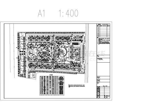 [都江堰]高档住宅小区中庭庭院植物配置施工图CAD-图二