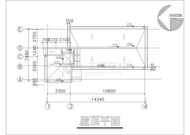某一层框架结构别墅给排水设计cad全套施工图-图一
