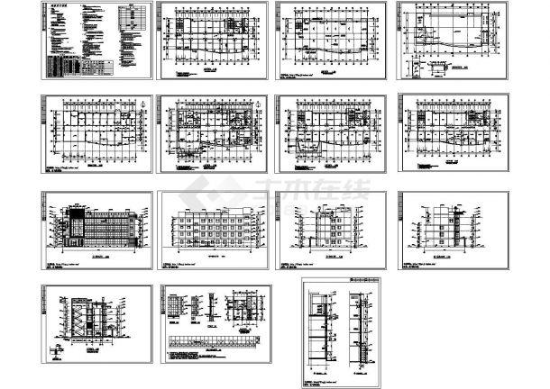 4层2650.5m2门诊综合楼建筑施工图【平立剖 墙身大样 目录 说明】-图一