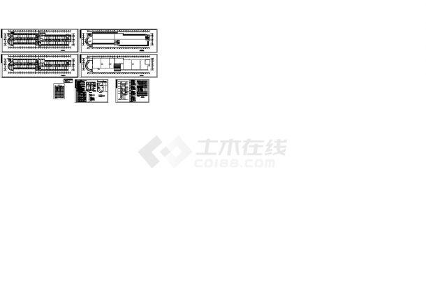 福建六层公寓宿舍楼电气系统设计施工cad图纸,共六张-图一