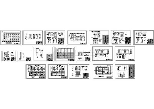 某厂区10KV高压变电所设计cad高低压成套柜电气原理图(甲级院设计)-图一