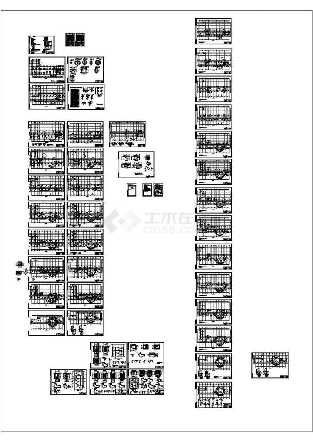 某六层框架结构研发楼结构设计施工图纸-图二