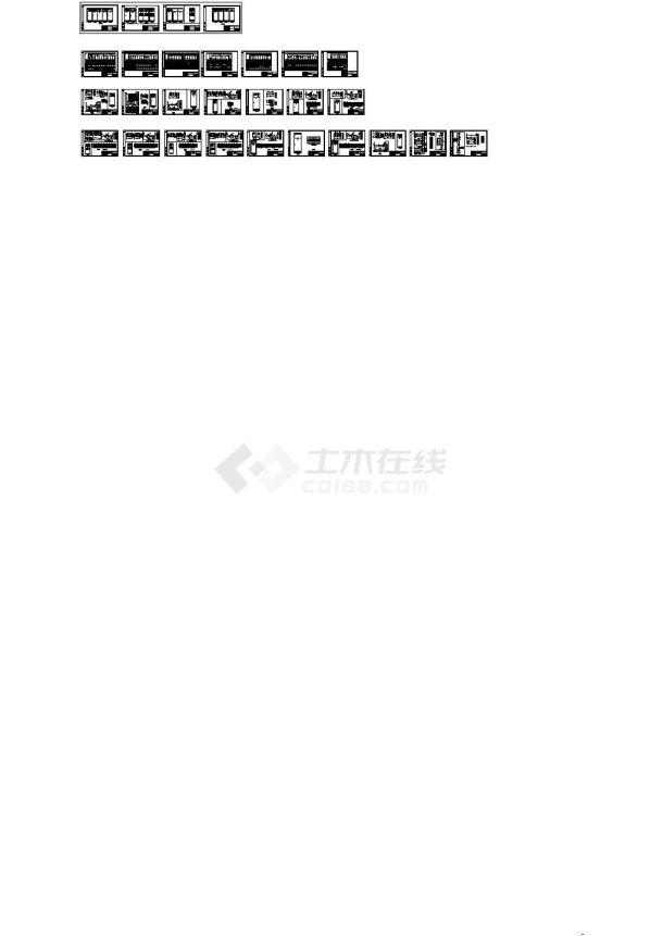 某膨润土厂配电工程GGD型低压开关柜设计cad全套电气原理图纸(含柜体布置设计)-图一