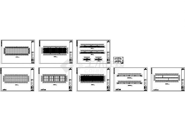 某公司200×48厂房工程CAD结构设计施工图-图一