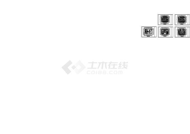 深圳某四星酒店装修设计CAD全套图纸-图一