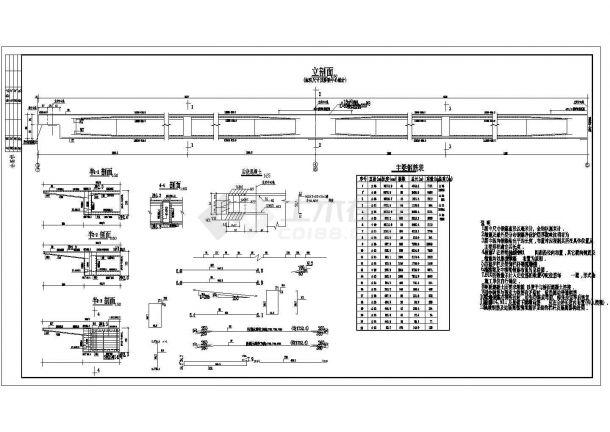 某弯箱梁桥构造及配筋CAD全套设计图纸(甲级院设计)-图一