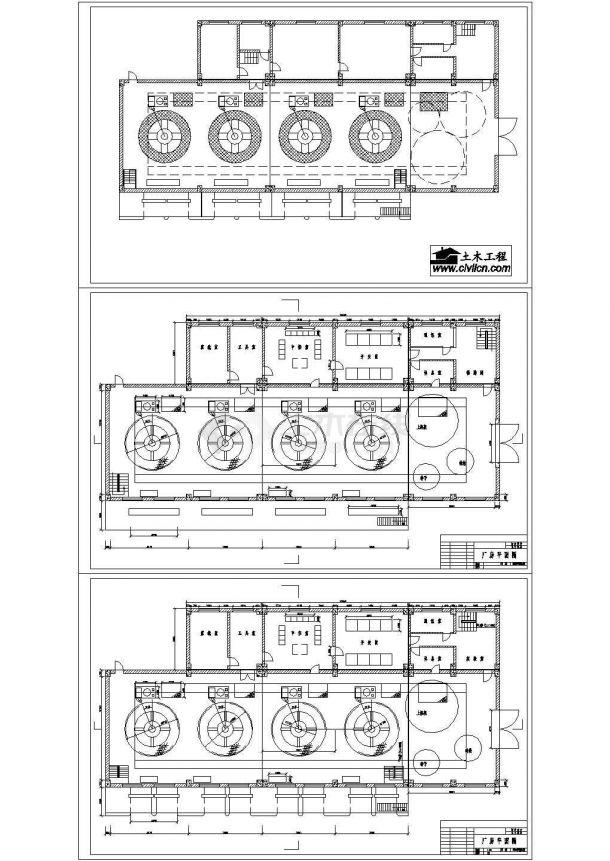某水利发电站厂房cad设计建筑施工图纸(标注详细)-图二