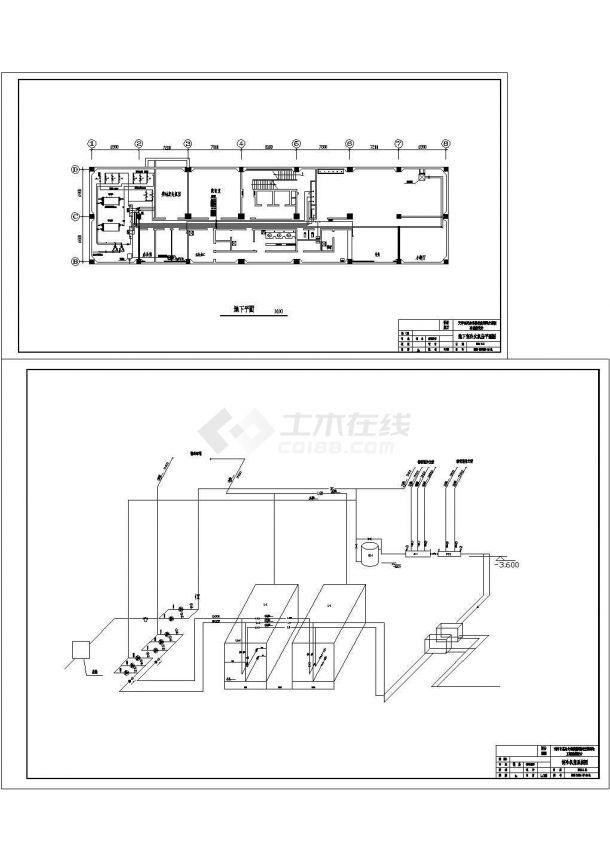 [天津]某综合楼暖通空调设计cad全套施工方案图(含正压送风系统图)-图一