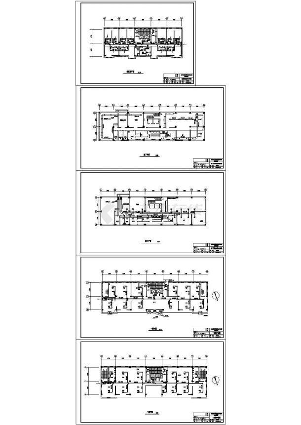 [天津]某综合楼暖通空调设计cad全套施工方案图(含正压送风系统图)-图二