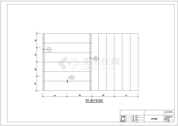 某钢结构雨蓬设计cad全套建筑施工图纸(含结构设计)-图二
