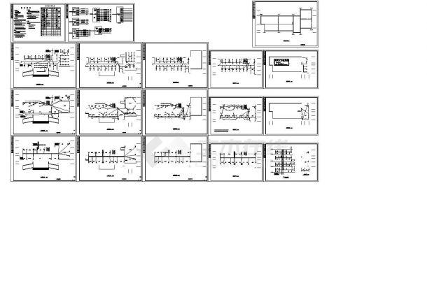 办公楼设计_某五层办公楼电气施工cad图,共十八张-图二