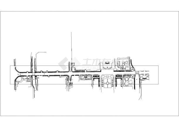 府前道路绿化规划设计cad总平面施工图纸(甲级院设计)-图一