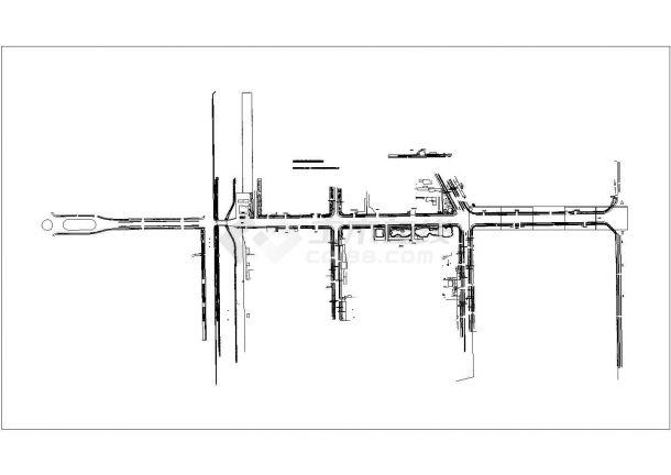 府前道路绿化规划设计cad总平面施工图纸(甲级院设计)-图二