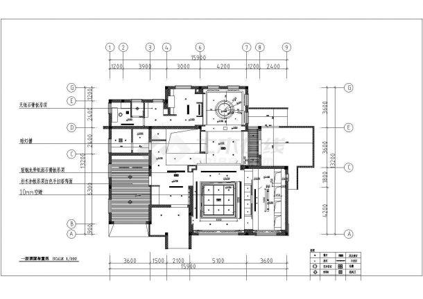 多层别墅室内装饰设计施工CAD图-图一