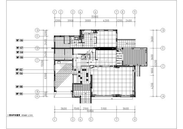 多层别墅室内装饰设计施工CAD图-图二