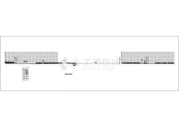 某公园开发区工业大街南段绿化规划设计cad总平面施工图-图一