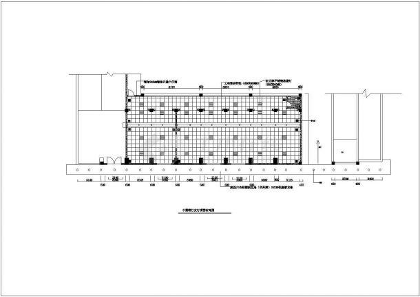 浙江省永康市某街道中国银行营业厅装修设计CAD图纸-图一