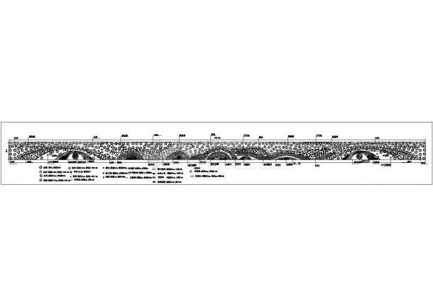 某城市道路绿化规划设计cad总平面施工图(含微地形图)-图二