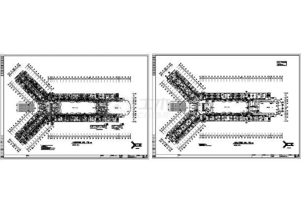 二层住院综合楼电气施工cad图(含照明设计图)-图一