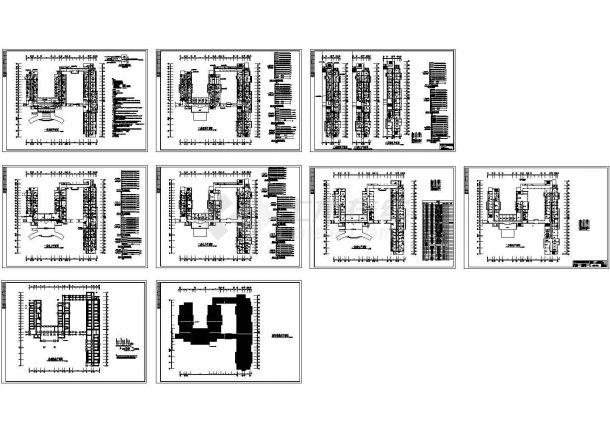 三层医院综合楼电气施工cad图(含照明电设计图,共九张)-图二