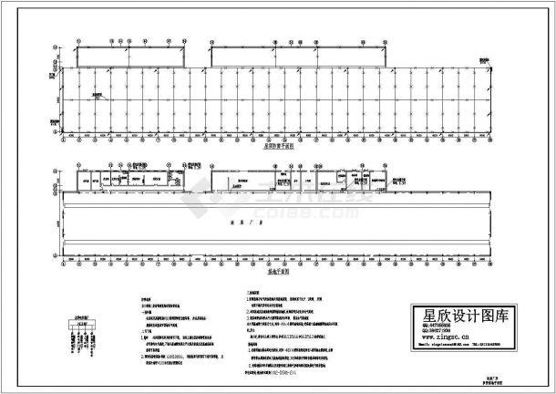 大同市某煤炭厂屋顶防雷设计CAD施工图-图一
