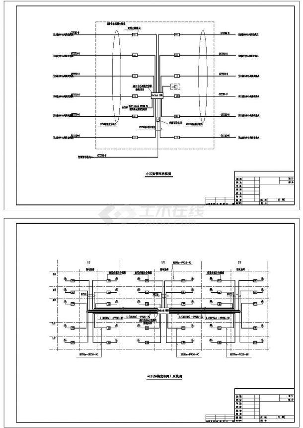 某五层小区住宅宽带网络系统设计cad图纸-图二