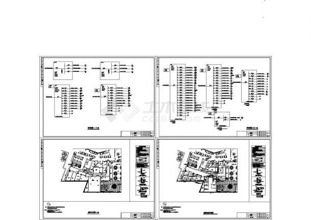 山西某酒店厨房电气系统设计CAD全套图纸-图一