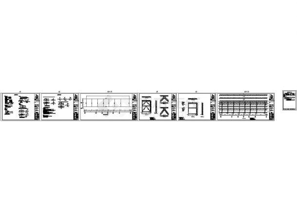 某标准型塔楼屋顶广告牌结构详细设计施工CAD图纸-图一
