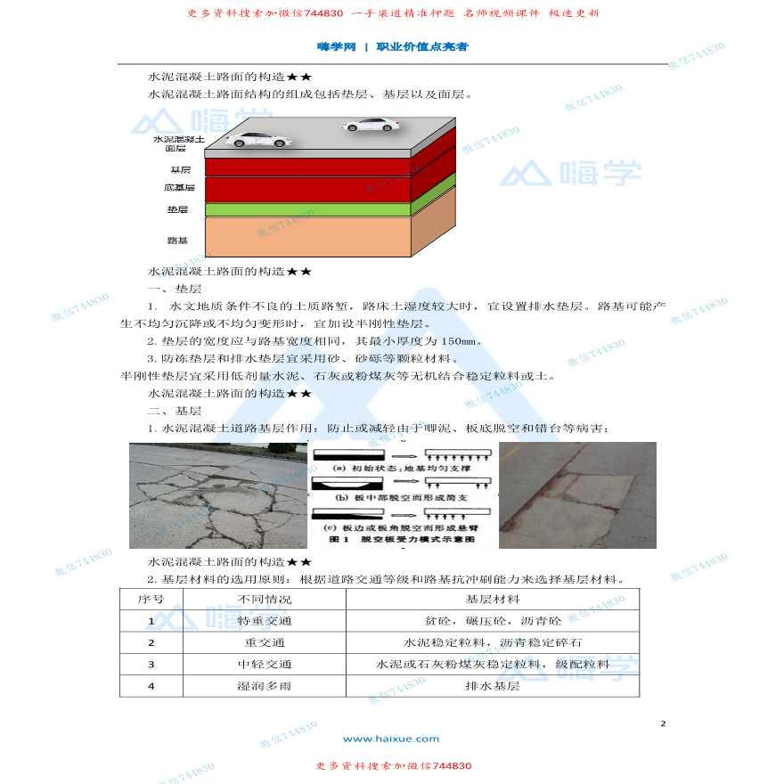 2K311000水泥混凝土路面的构造全套详细文档-图二