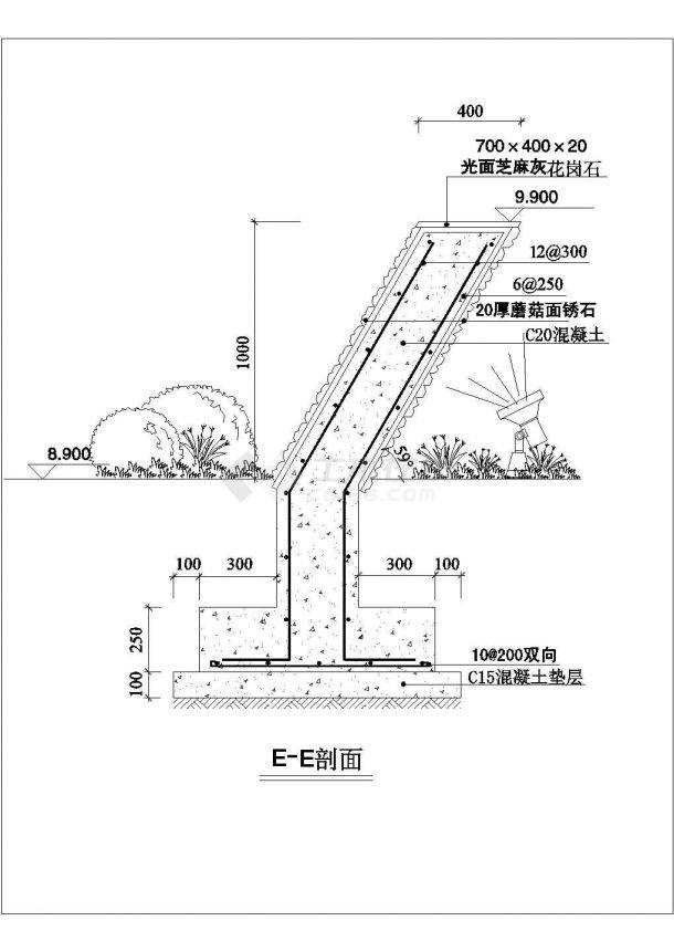 某几何墙景观设计cad建筑施工详图-图一