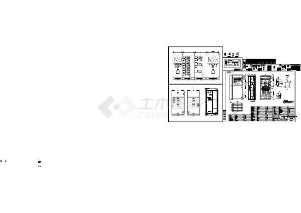 某标准型低压开关柜设备电气原理设计施工CAD图纸-图一