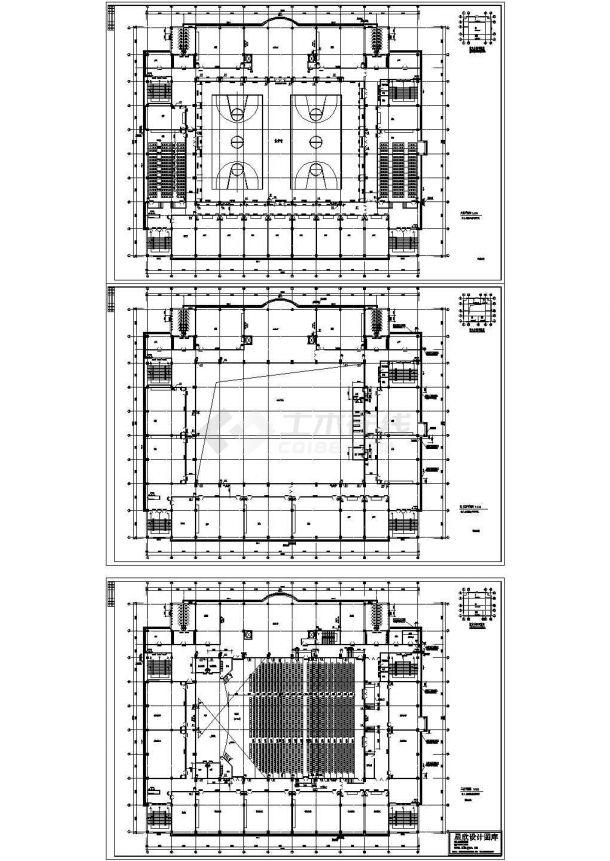 重庆某高级技术学院6层教学楼动力平面设计CAD施工图-图一