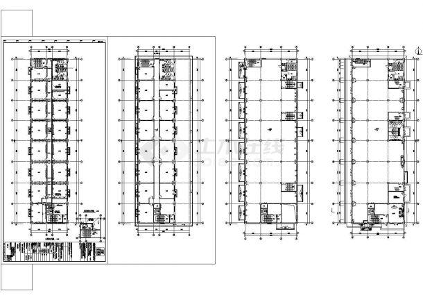 多层办公楼电气设计施工CAD图纸-图一