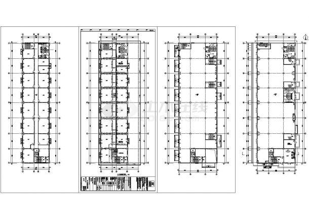 多层办公楼电气设计施工CAD图纸-图二