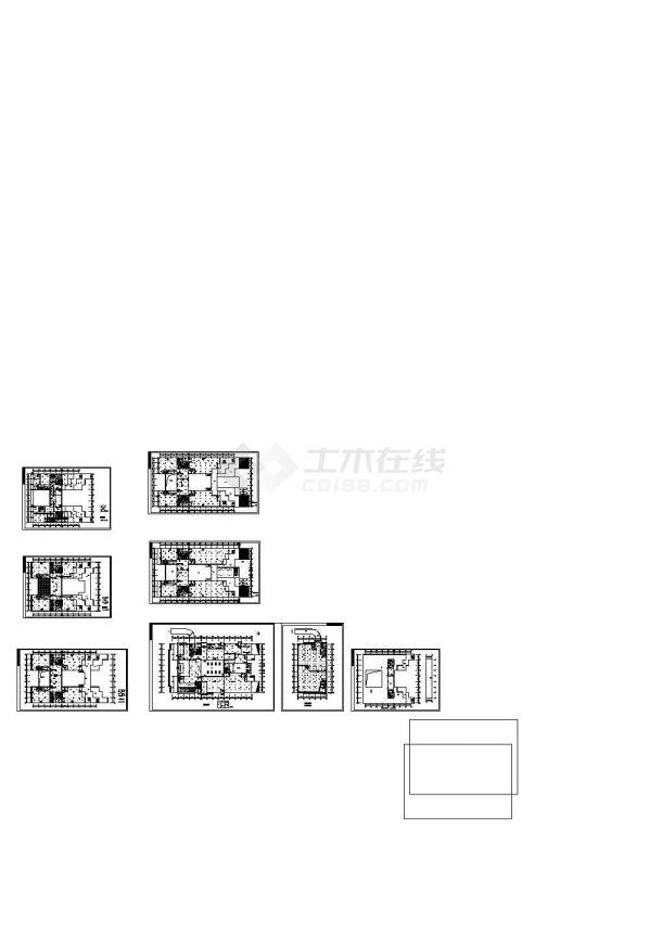 北京昌平区某大学图书馆消防系统设计CAD施工图-图一
