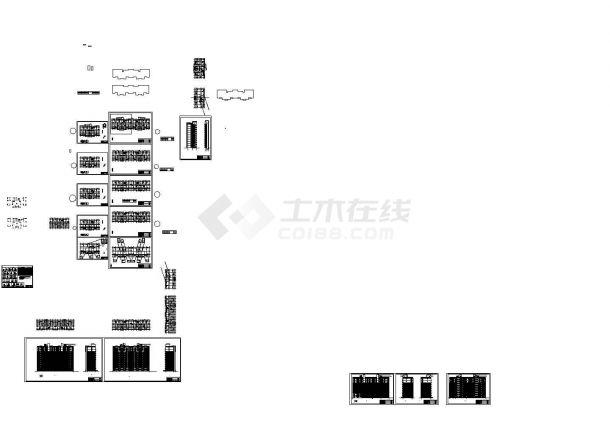 某十一层短肢剪力墙安置住宅全套设计图CAD-图二