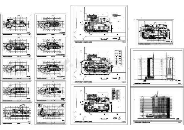 【苏州】木渎高层办公大楼全套cad施工设计方案图纸-图一