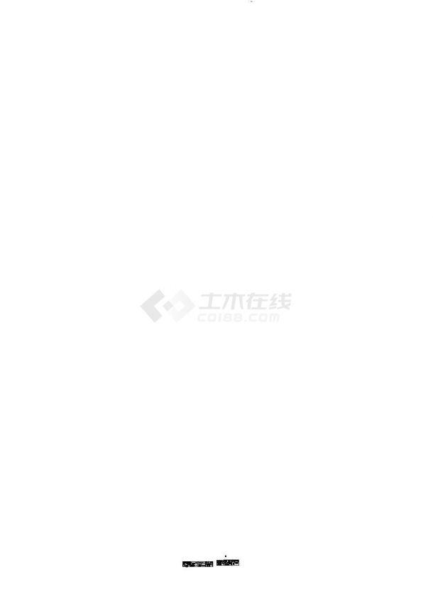 湘潭市某除险加固水库溢洪道工程建筑设计CAD施工图-图二