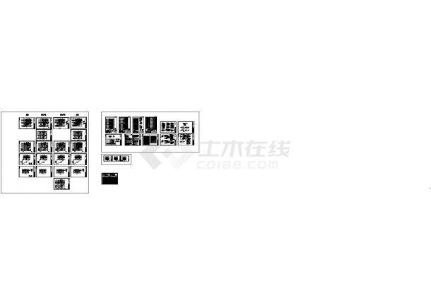 北京某高层住宅楼整套电气线路施工设计cad图纸(含屋顶防雷平面图)-图一