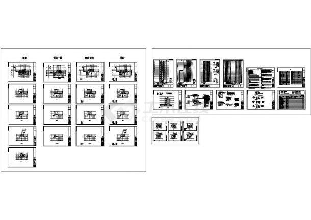 北京某高层住宅楼整套电气线路施工设计cad图纸(含屋顶防雷平面图)-图二