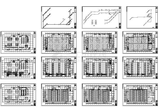 电子厂房采暖通风空调设计cad施工图-图一