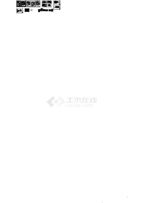 [江苏]某二层一进院中式风格别墅建筑设计施工图-图一