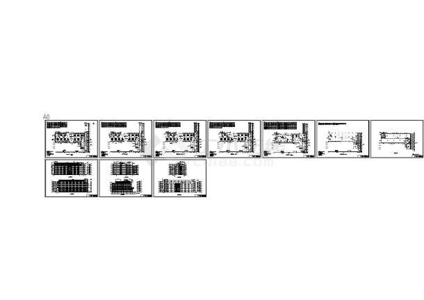 [湖南]某县人民医院六层住院楼建筑设计CAD施工图(含效果图)-图二