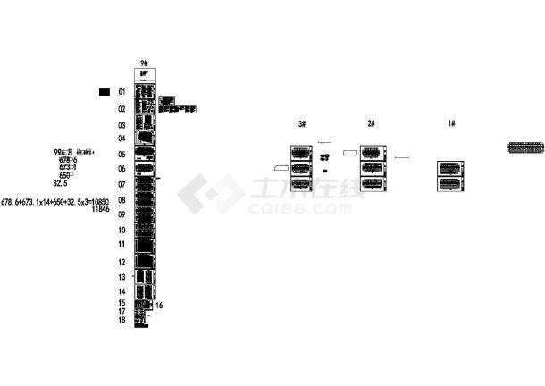 [江苏]高层框剪结构单元式住宅建筑设计施工图-图一